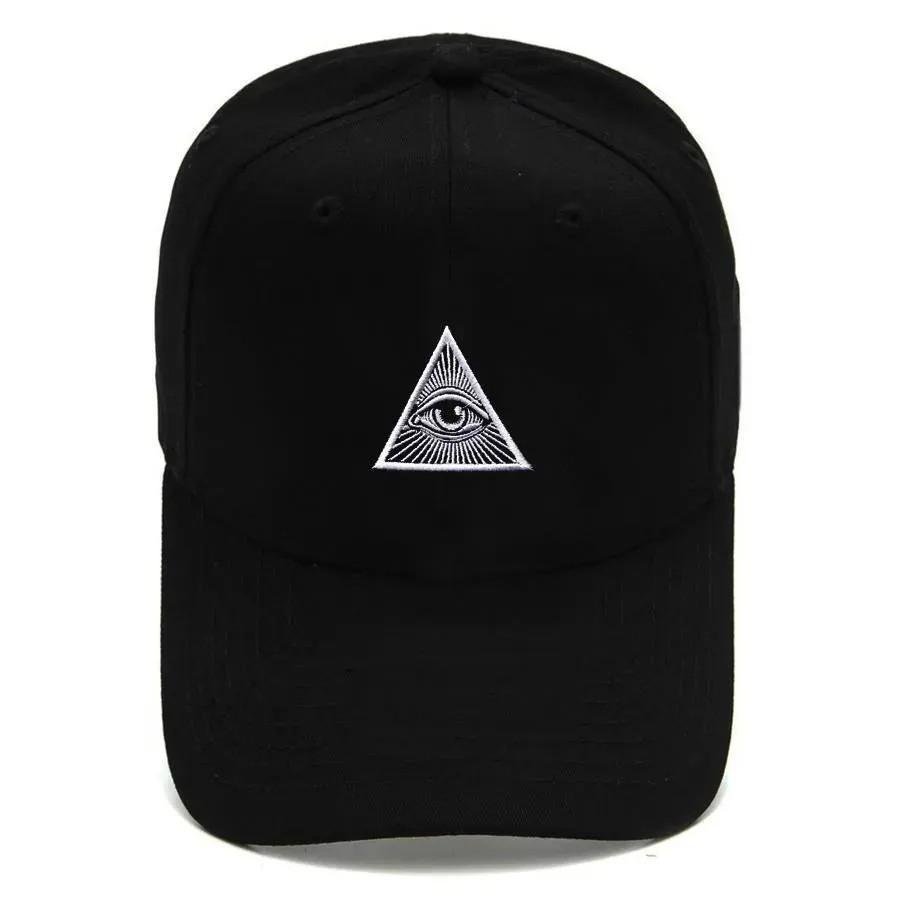 Boné Strapback Dad Hat Aba Curva Illuminati Preto
