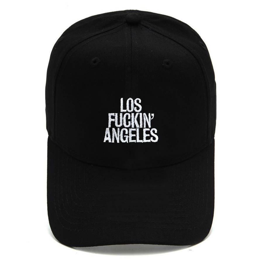 Boné Strapback Dad Hat Aba Curva Los Fuckin Angeles Preto