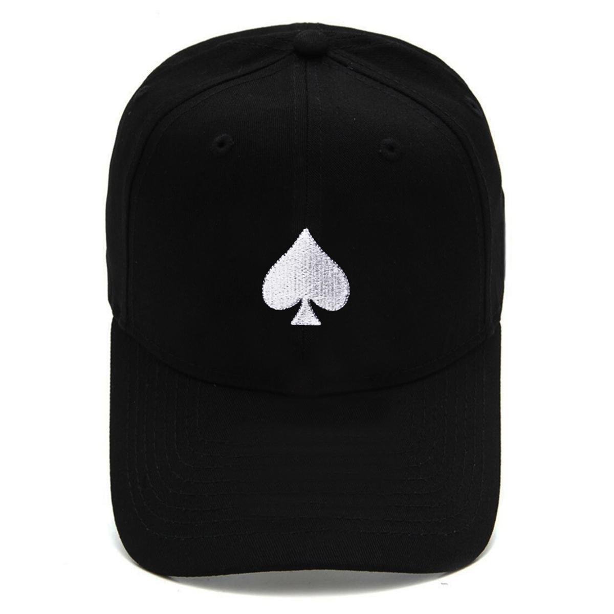 Boné Strapback Dad Hat Aba Curva Poker Preto