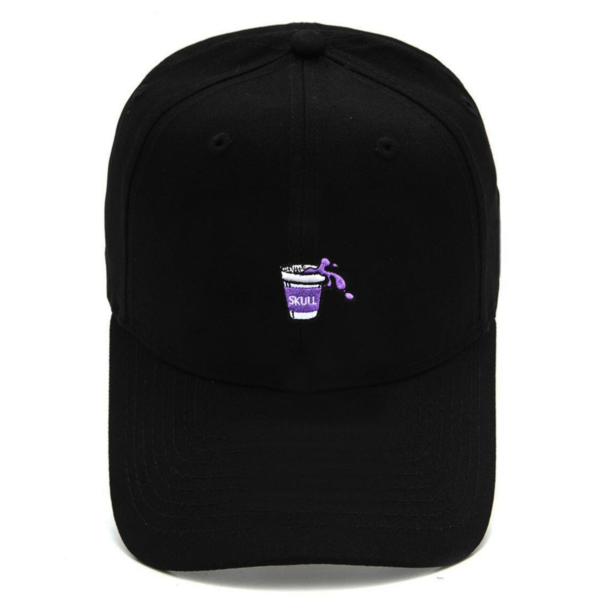 Boné Strapback Dad Hat Aba Curva Purple Juice Preto