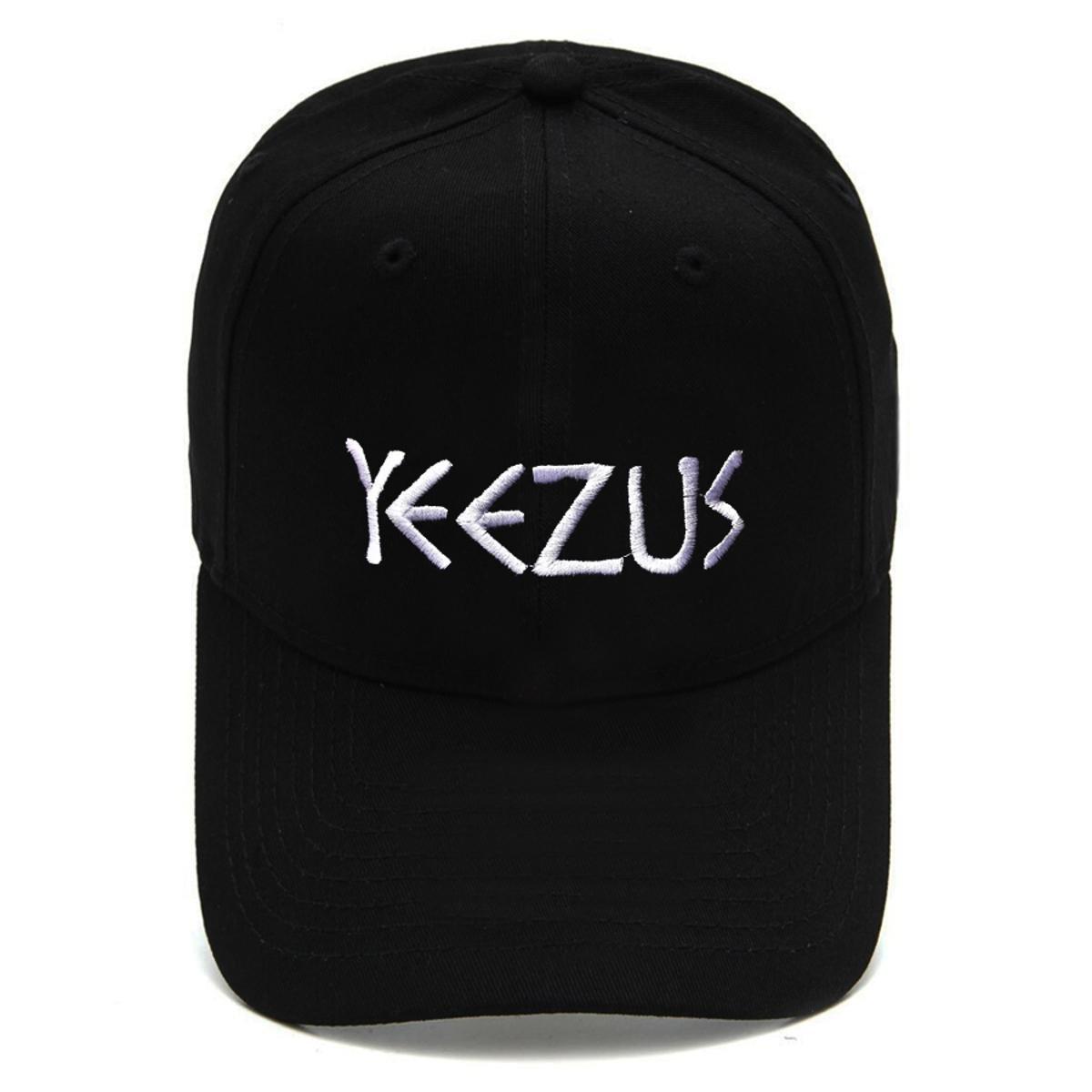 Boné Strapback Dad Hat Aba Curva Yeezus Preto