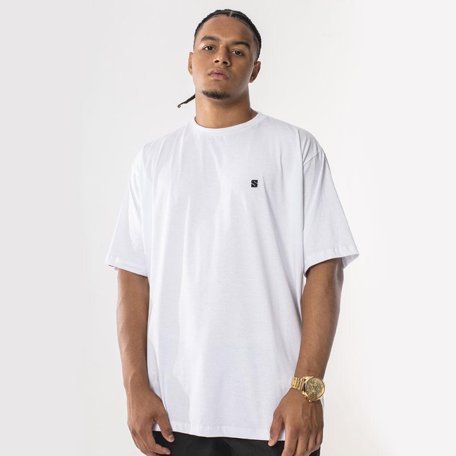 Camiseta Basic Patch White