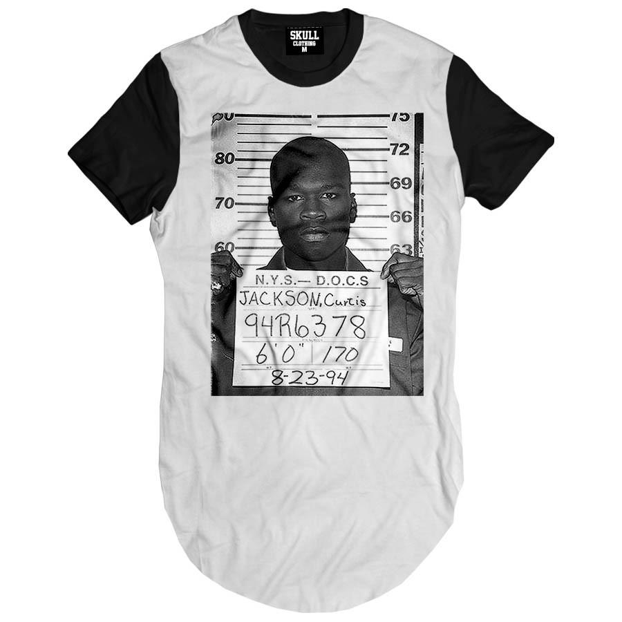 Camiseta Longline 50 Cent Busted
