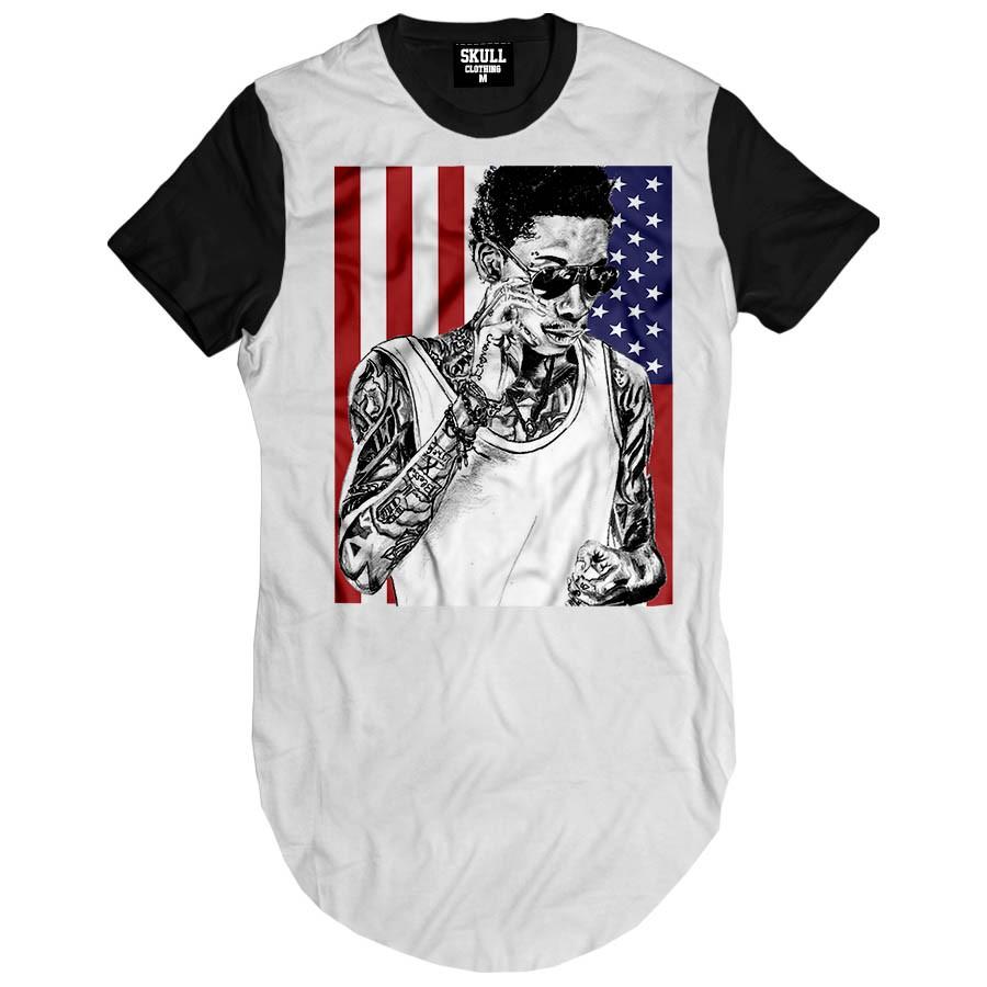 Camiseta Longline American Khalifa