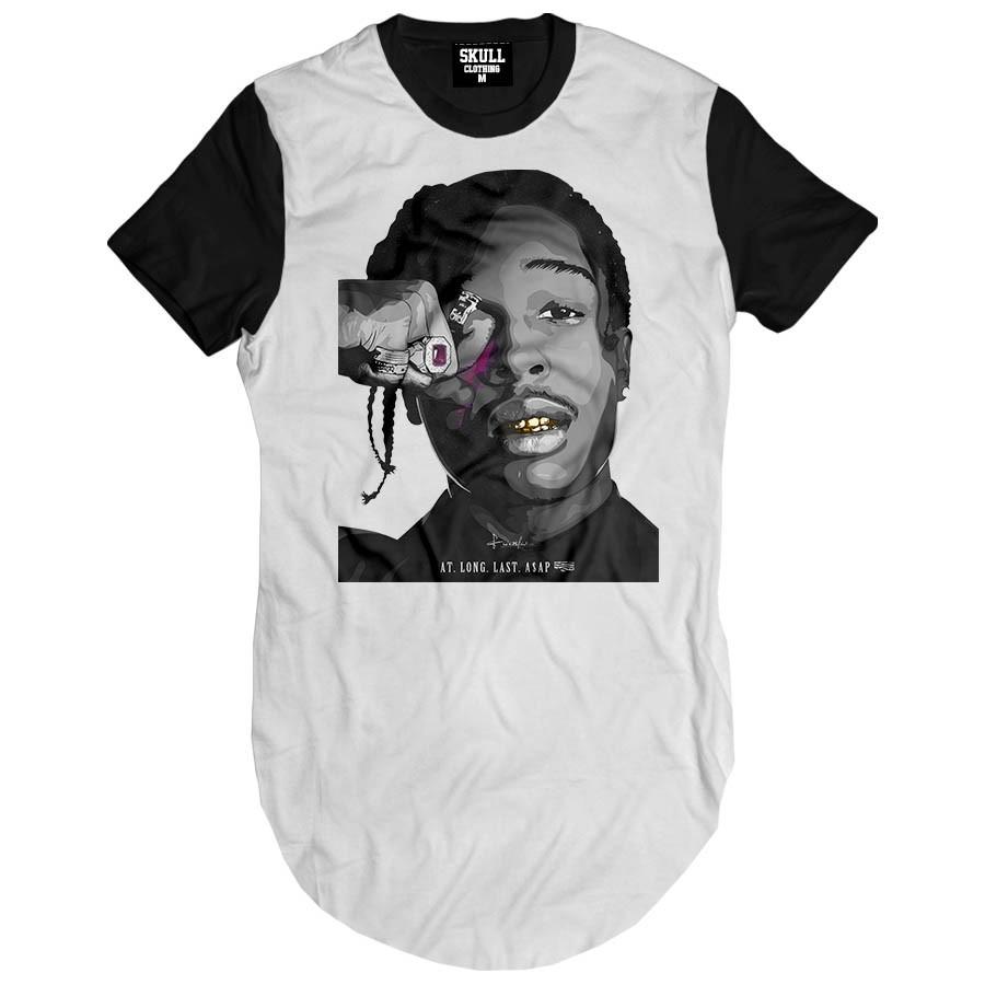 Camiseta Longline Art Rapper Asap