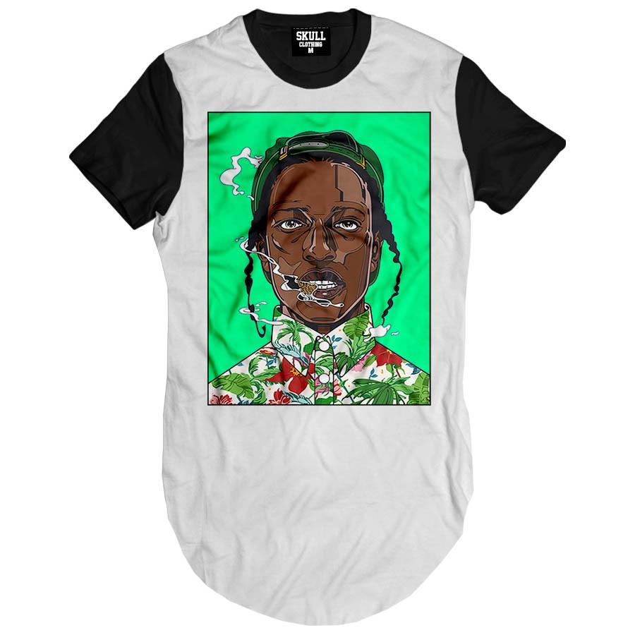 Camiseta Longline Asap Rocky Green