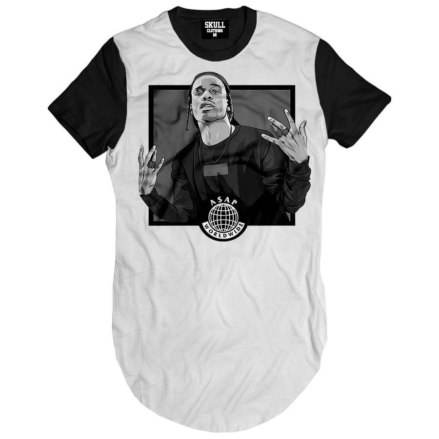 Camiseta Longline Asap Rocky Word Wide