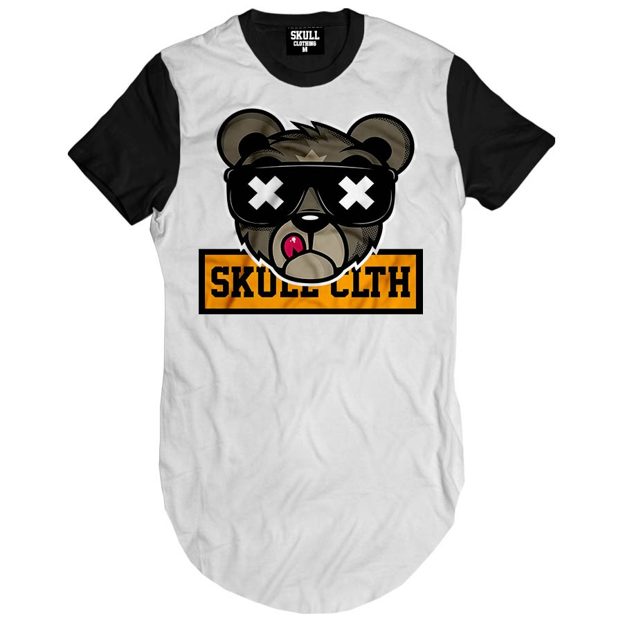 Camiseta longline Bear Skull Clothing
