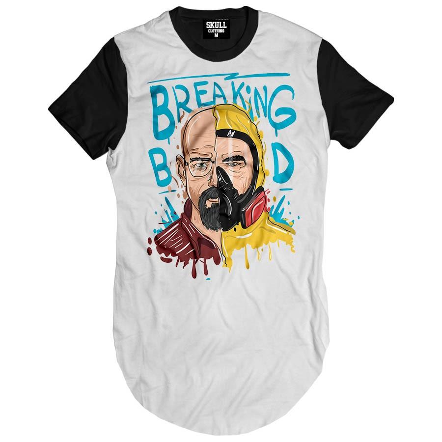 Camiseta Longline Breaking Bad Art
