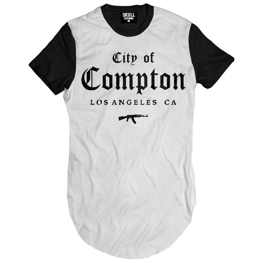 Camiseta Longline City of Compton