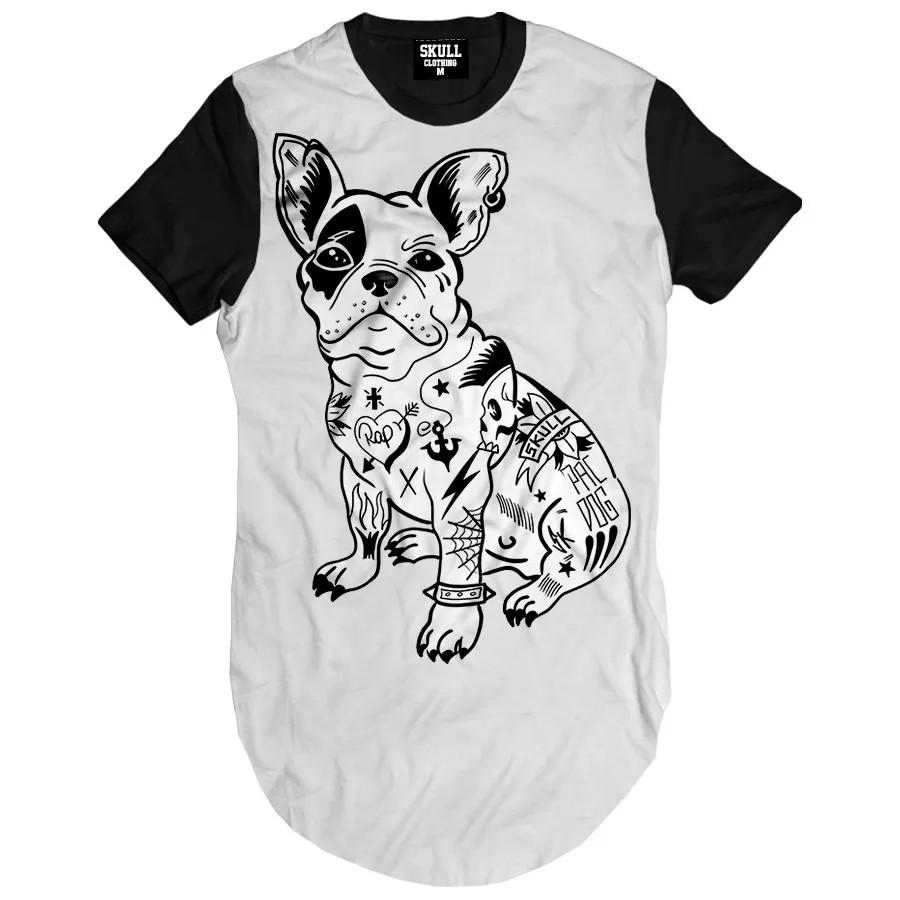 Camiseta Longline Dog Tattoo