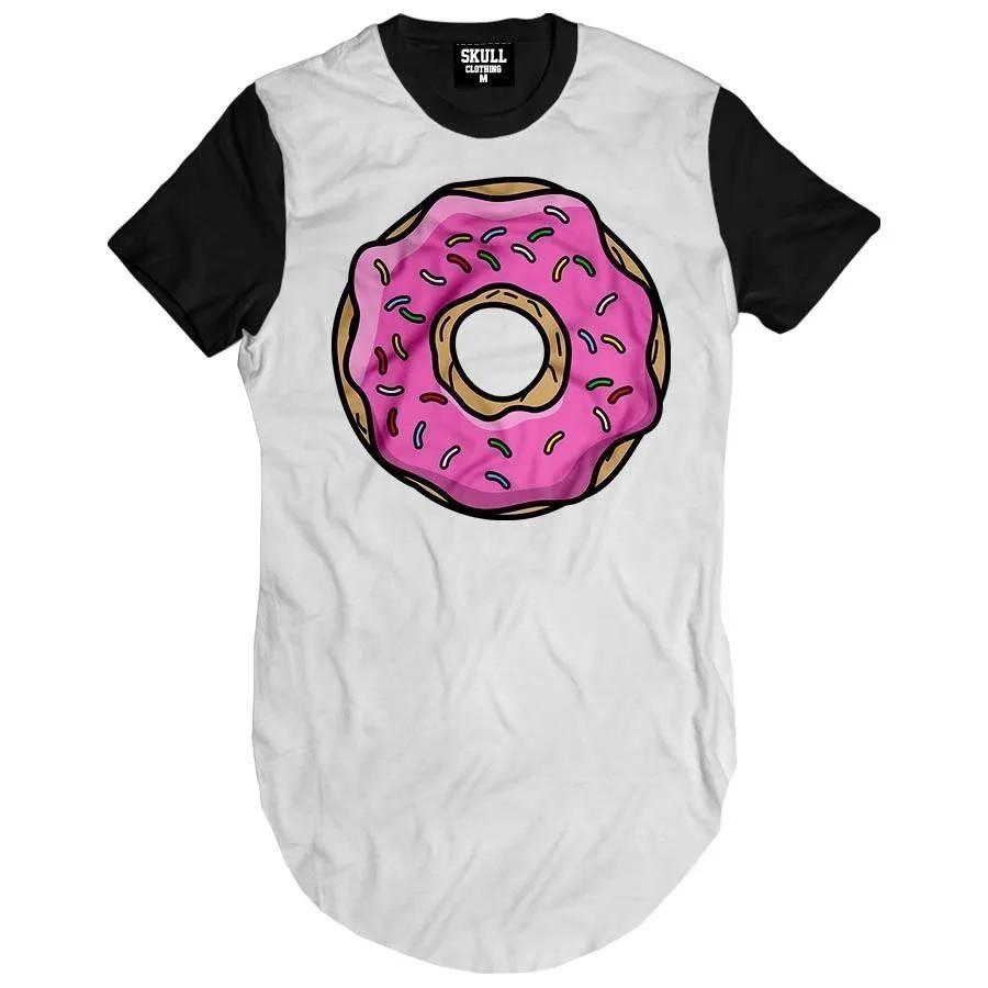 Camiseta Longline Donut Pink