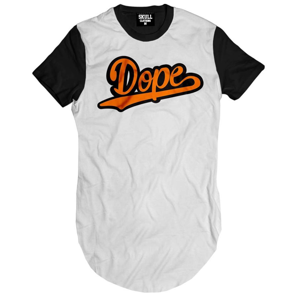 Camiseta Longline Dope Orange