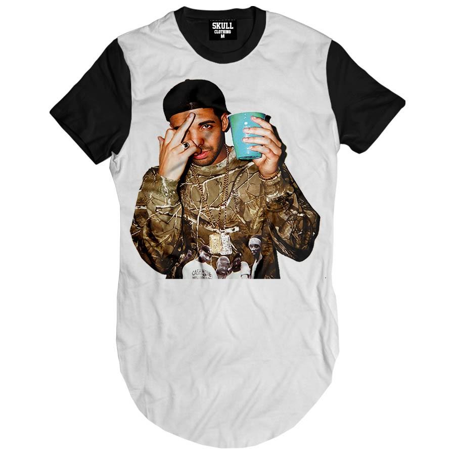 Camiseta Longline Drake Fuck You