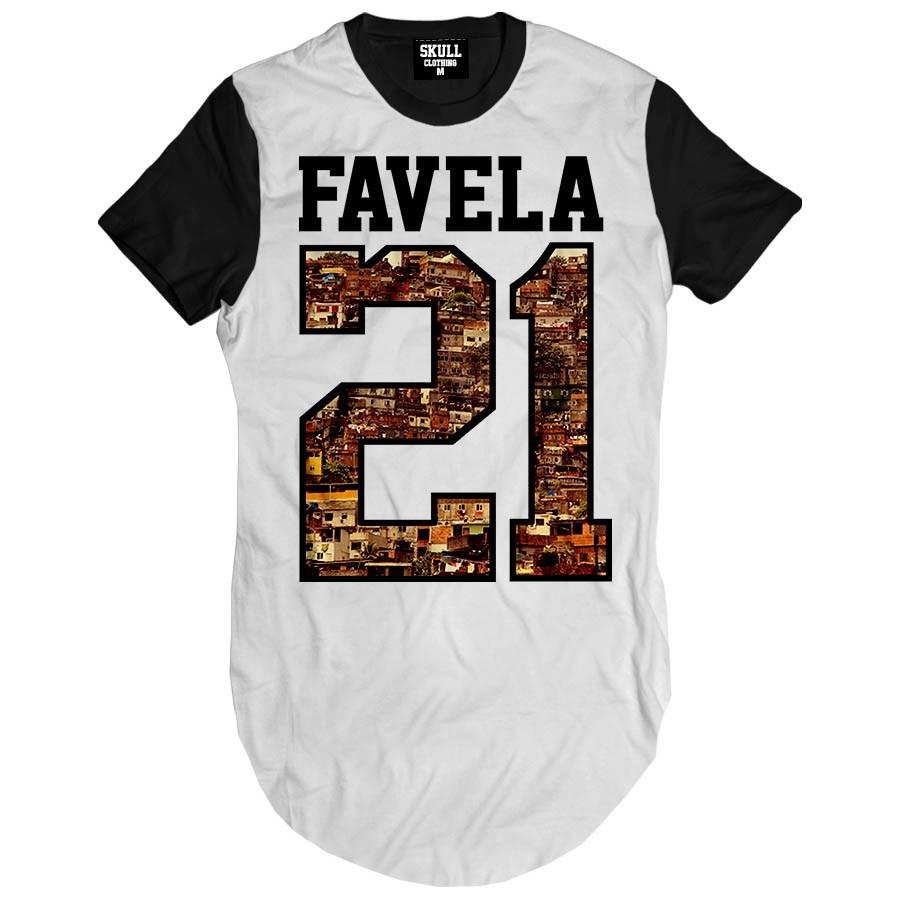 Camiseta Longline Favela 21