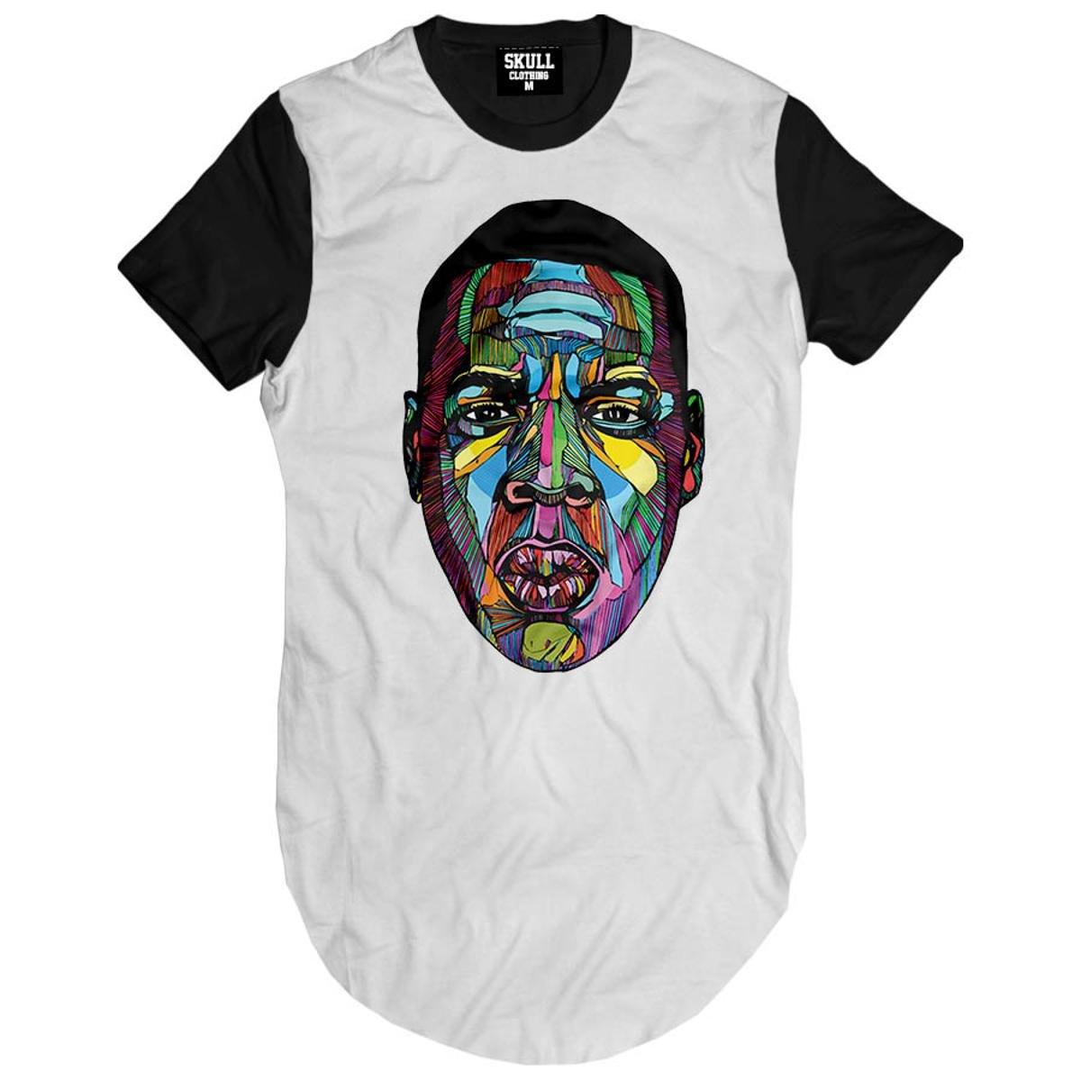 Camiseta longline Jay-z Color