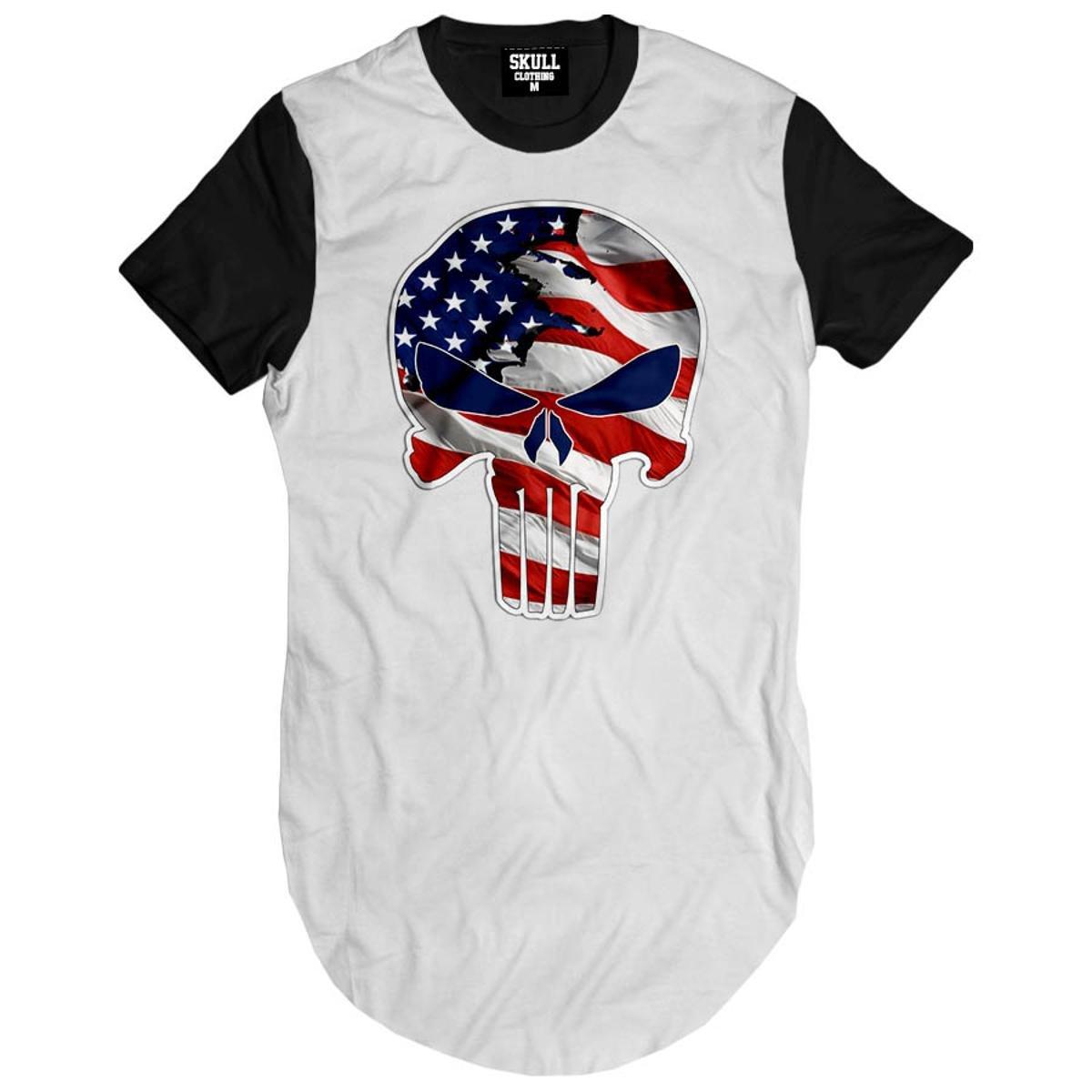 Camiseta Longline Justiceiro USA
