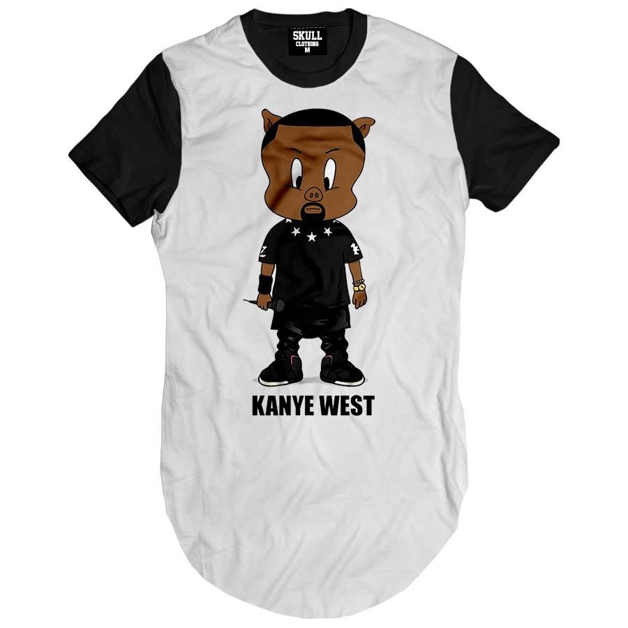 Camiseta Longline Kanye West
