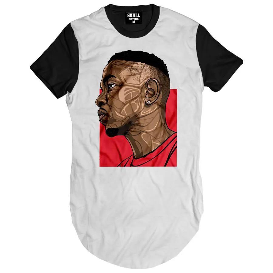 Camiseta Longline Kendrick Lamar Red
