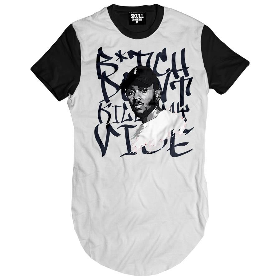 Camiseta Longline Kendrick Lamar Song