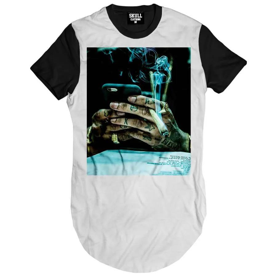 Camiseta Longline Khalifa Weed