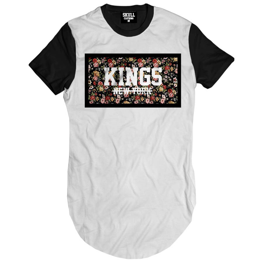 Camiseta Longline Kings New York Floral