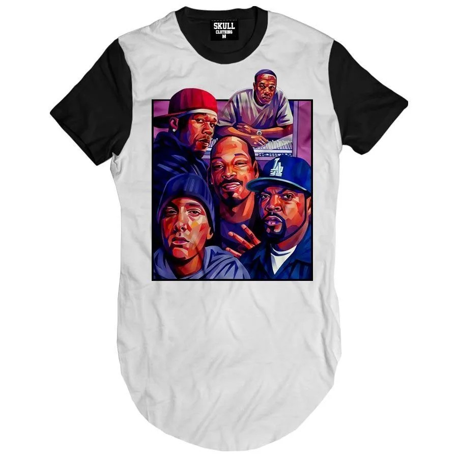 Camiseta Longline Kings Of Rap