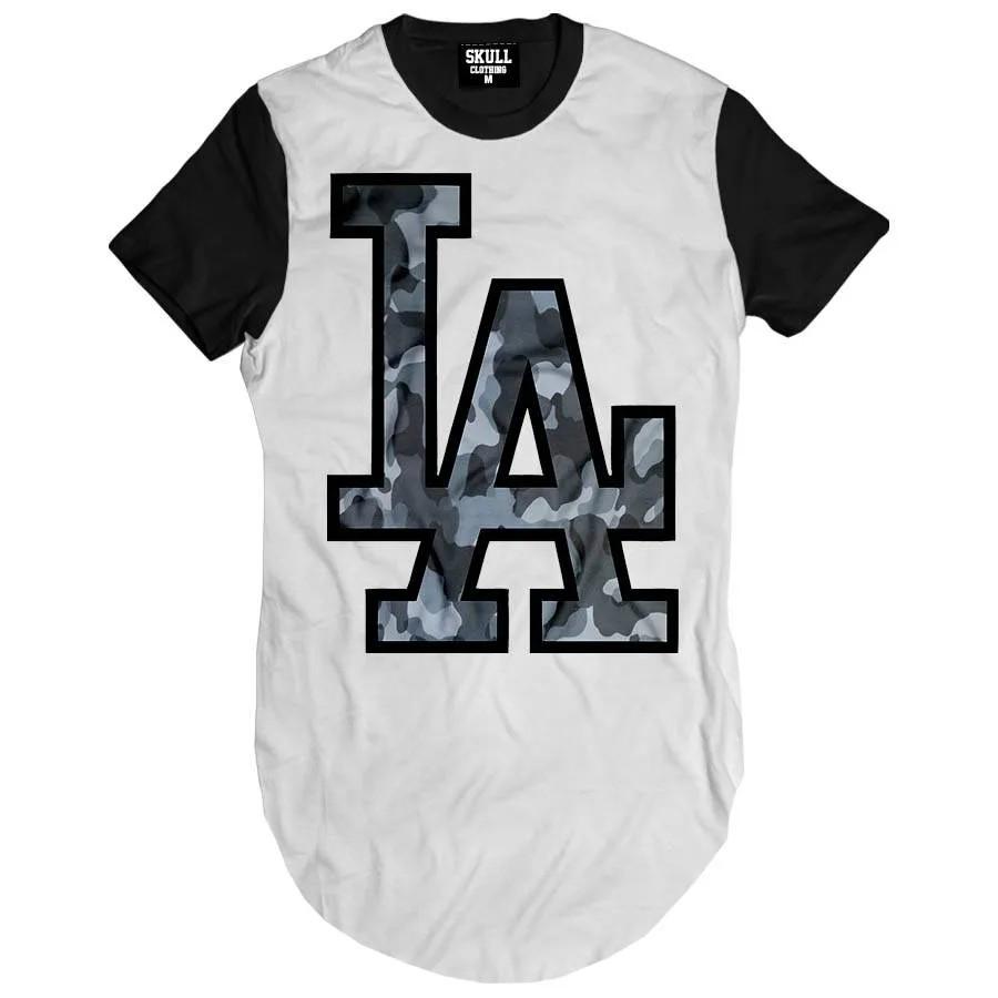 Camiseta Longline LAX Camuflado