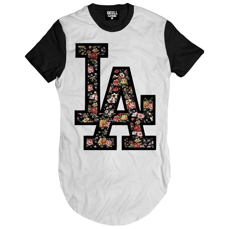 Camiseta Longline LAX Floral
