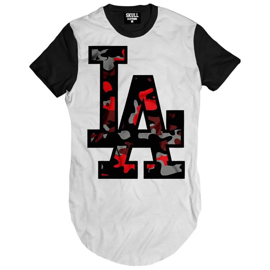 Camiseta Longline Los Angeles Camuflado