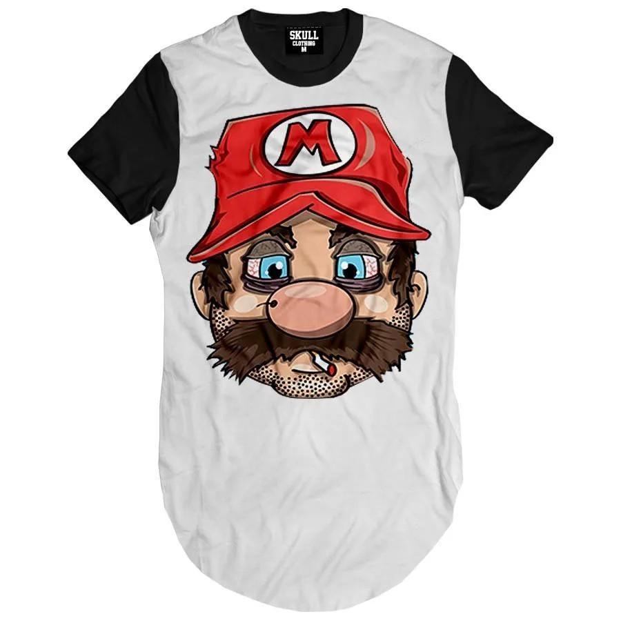 Camiseta Longline Mario Smoke