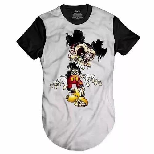 Camiseta Longline Mickey Dead