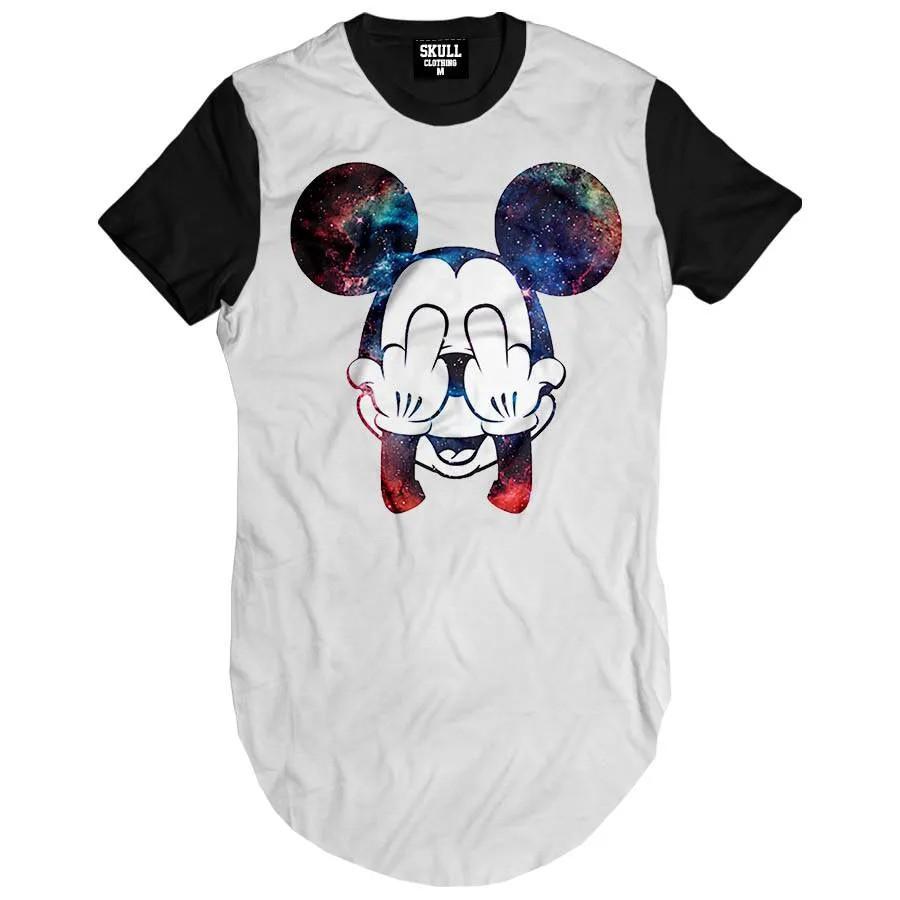 Camiseta Longline Mickey Galaxy