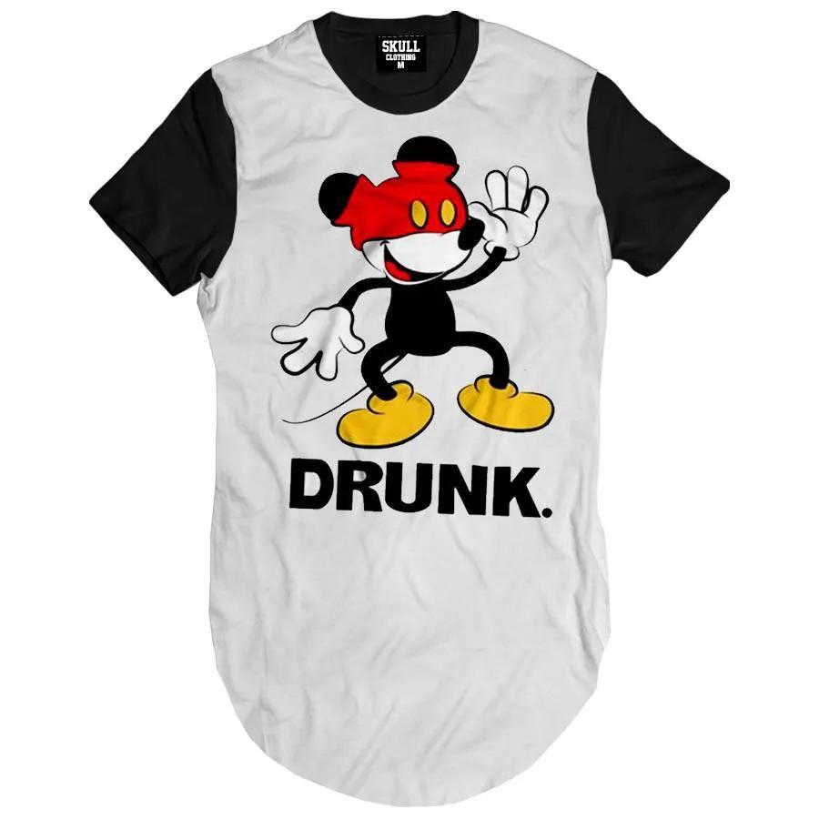 Camiseta Longline Mouse Drunk