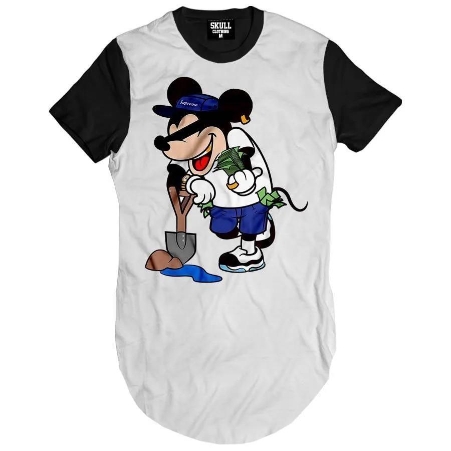 Camiseta Longline Mouse Money