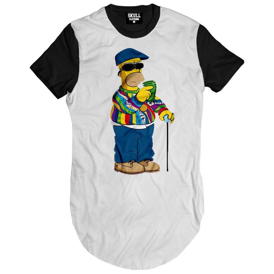 Camiseta Longline Notorious Hommer Biggie