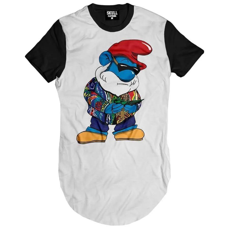 Camiseta Longline Notorious Smurf