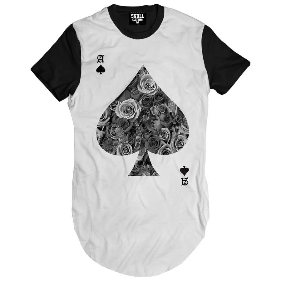 Camiseta Longline Poker Floral