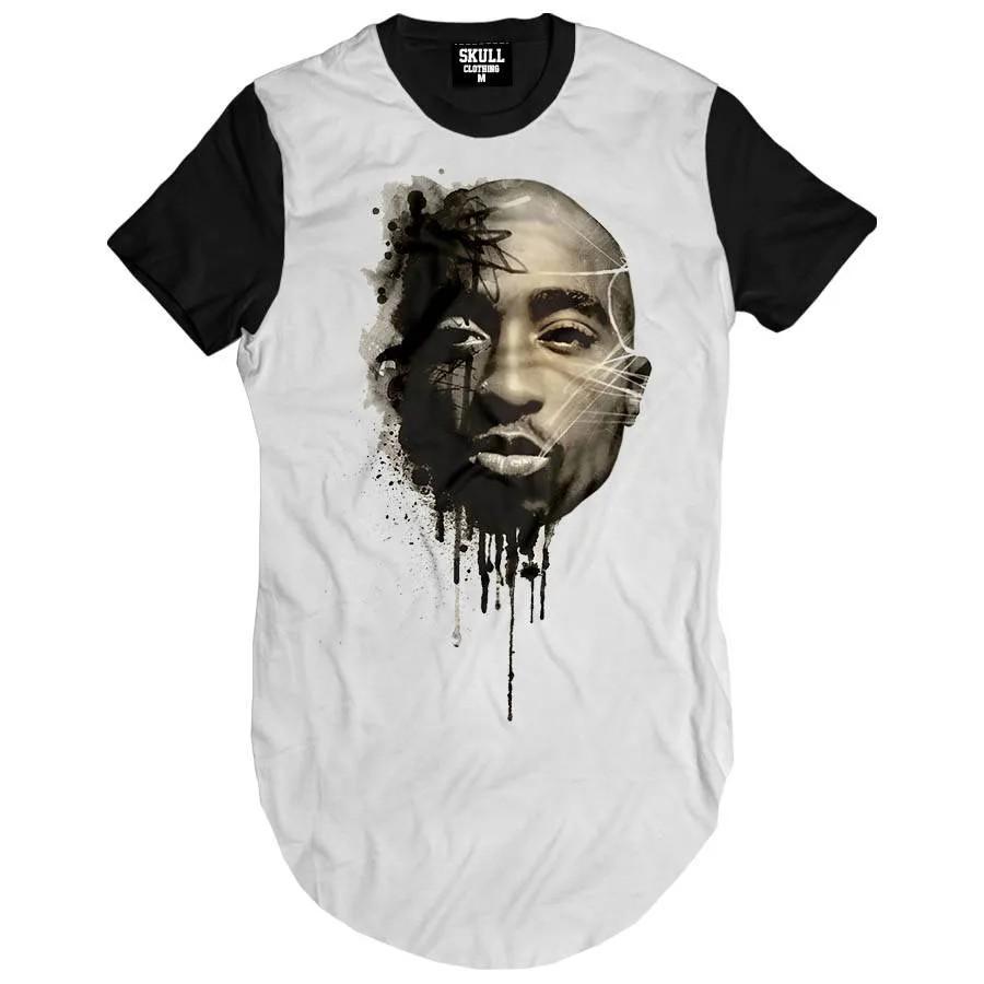 Camiseta Longline Shakur Art