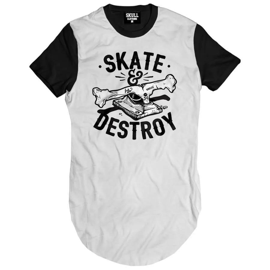 Camiseta longline Skate Destroy