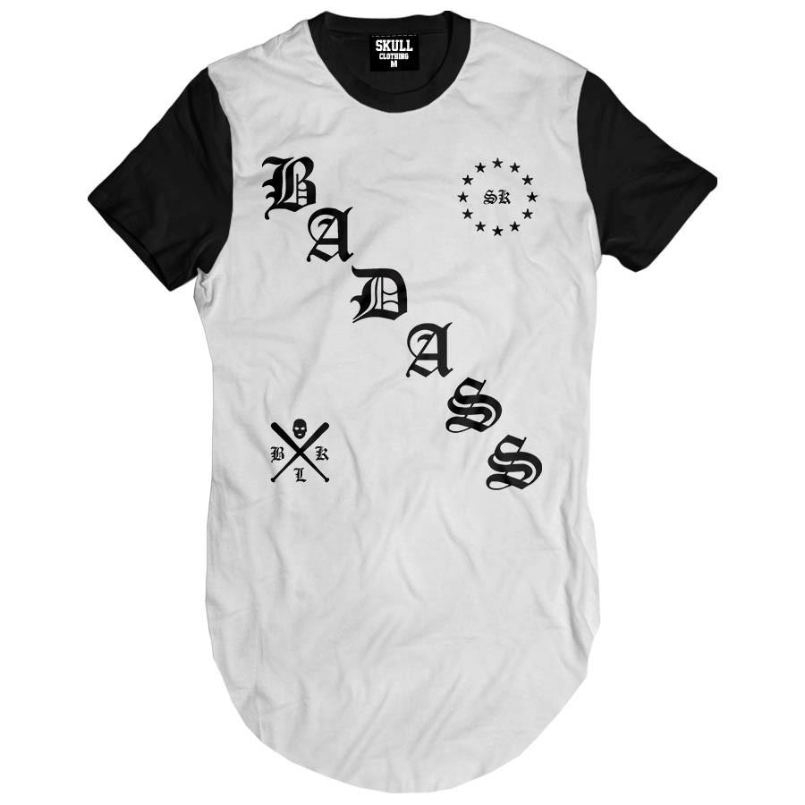 Camiseta Longline Skull Clothing Badass