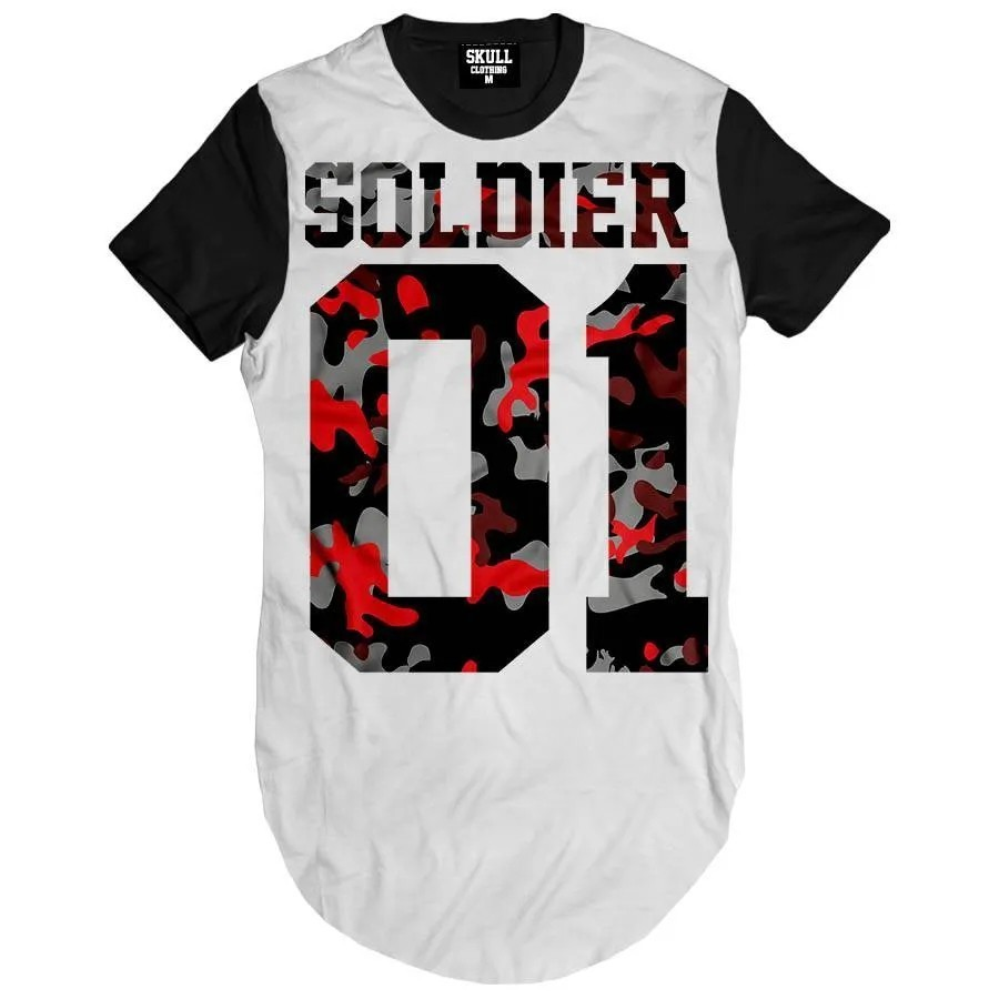 Camiseta Longline Soldier Number One