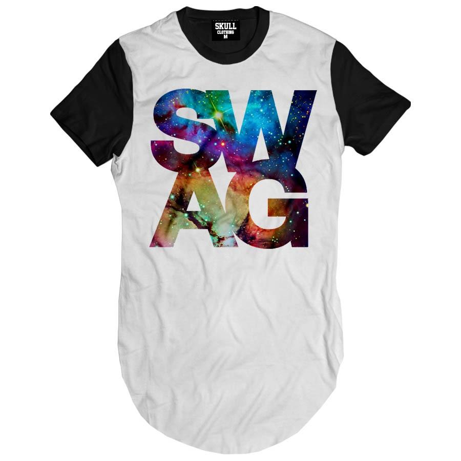 Camiseta Longline Swag Galaxy