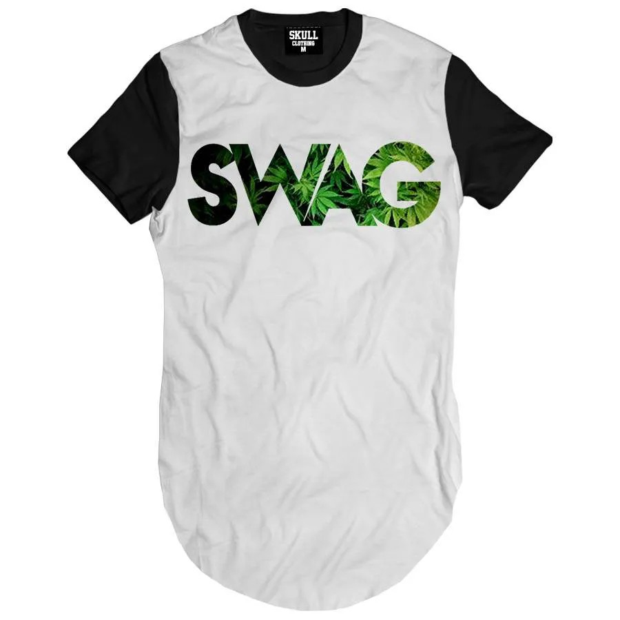 Camiseta Longline Swag Weed