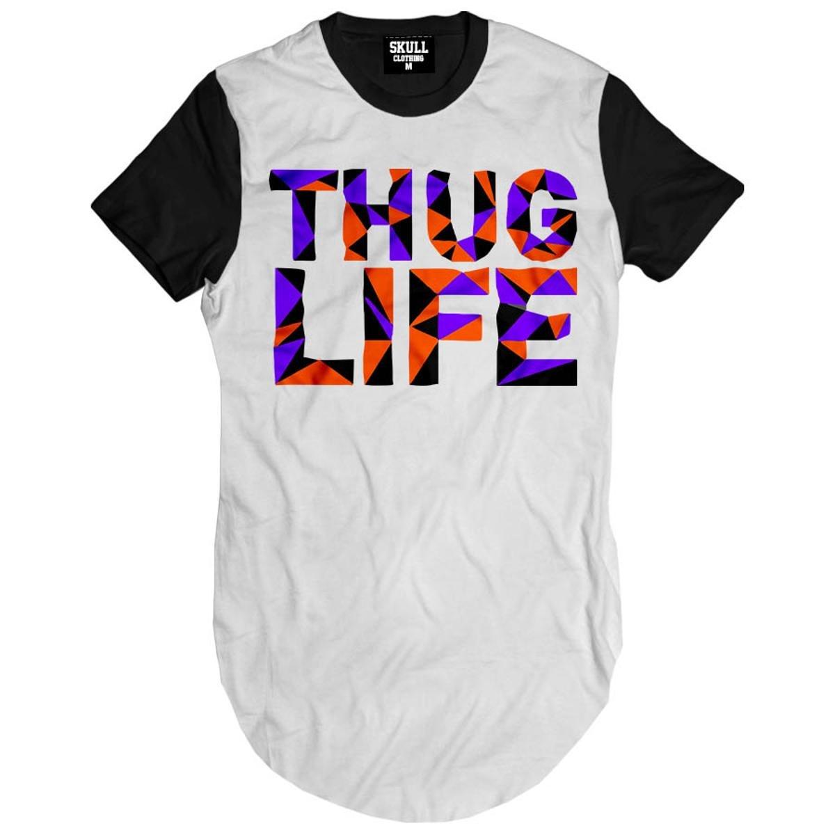 Camiseta Longline Thug Life Purple