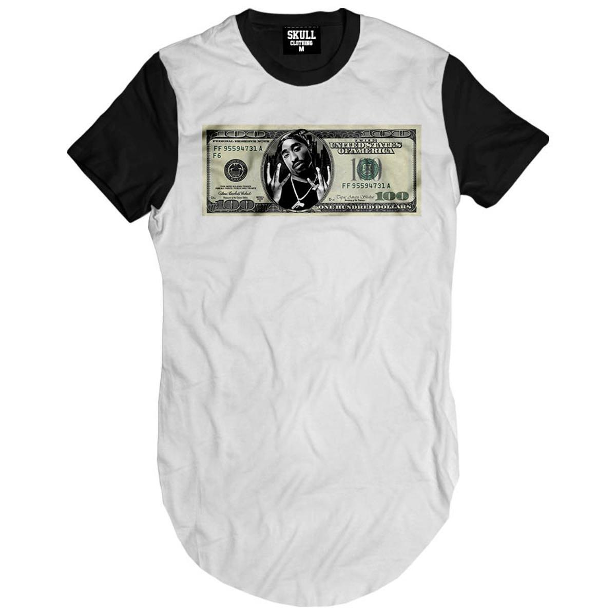 Camiseta longline Tupac Dollar