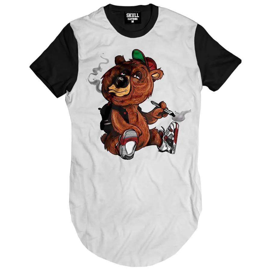 Camiseta Longline Urso Thug Life