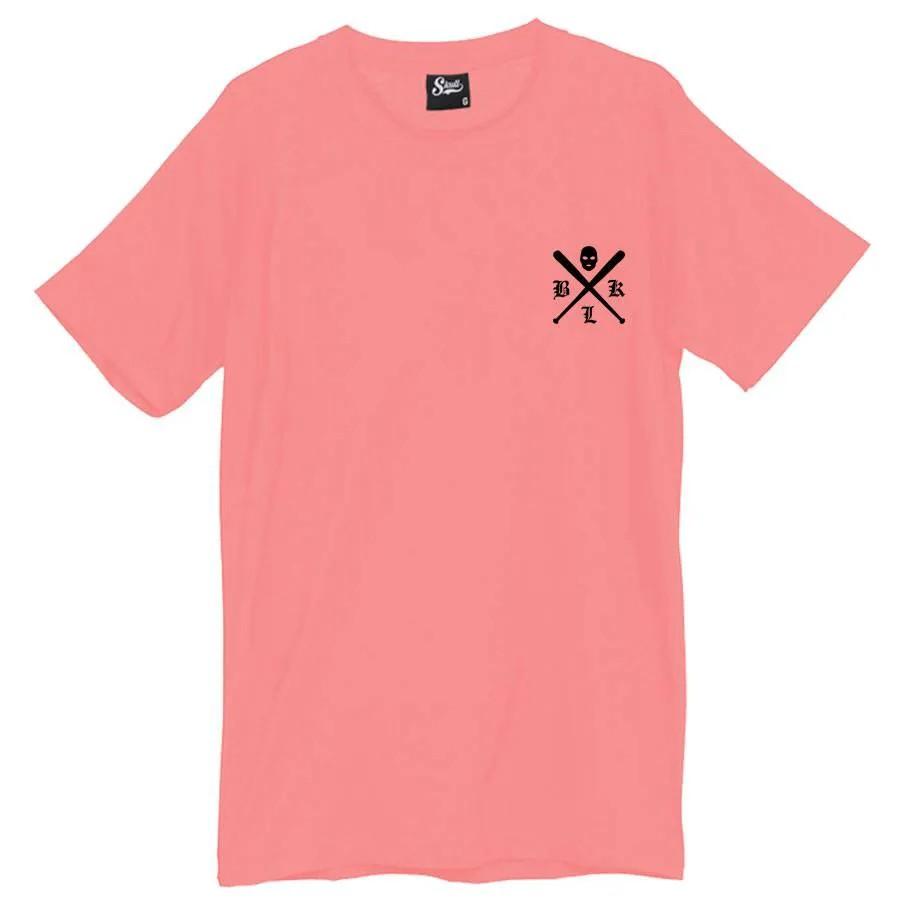 Camiseta Masculina Criminal Life Rosa