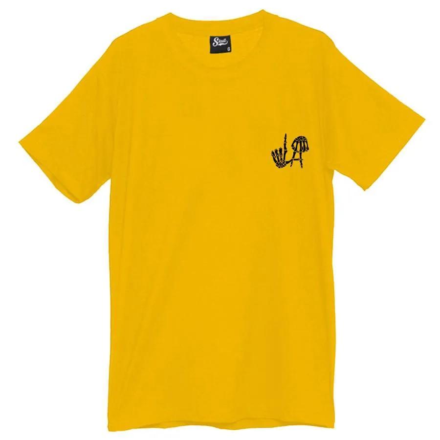 Camiseta Masculina Los Angeles LA Amarela