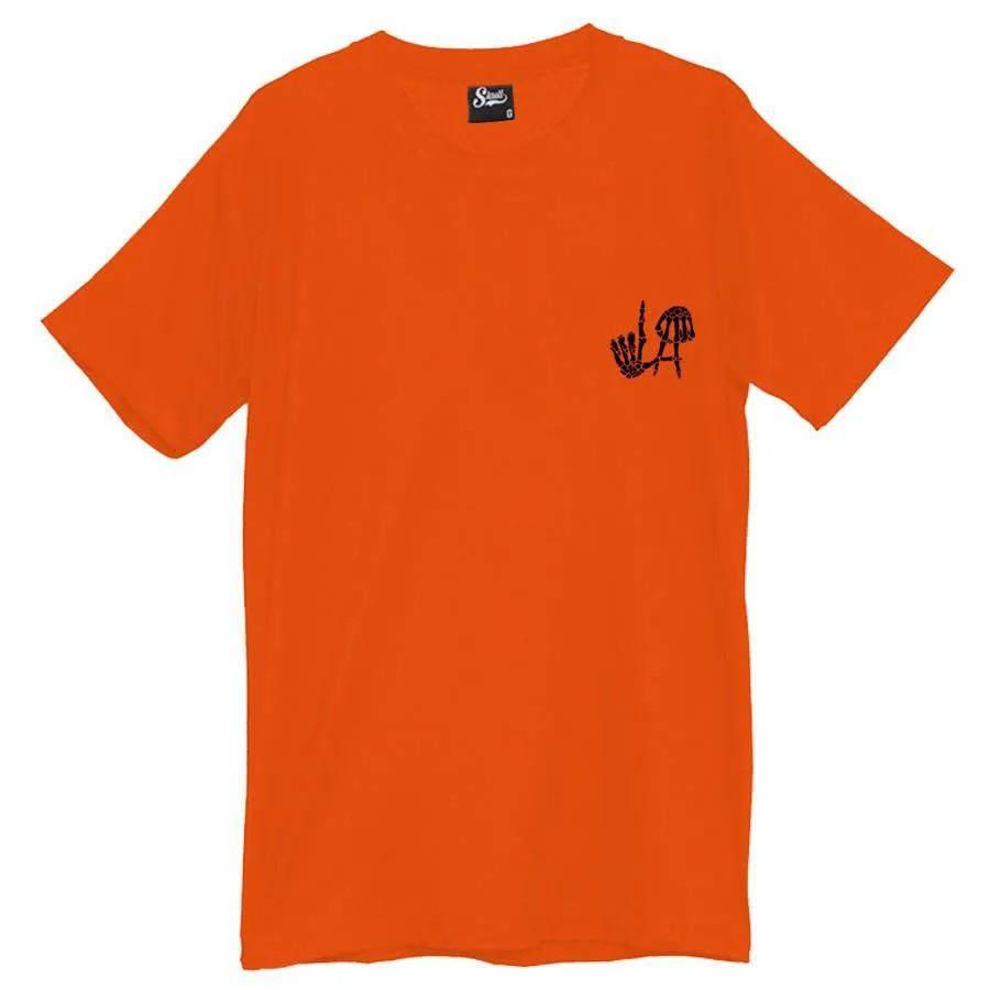 Camiseta Masculina Los Angeles LA Laranja